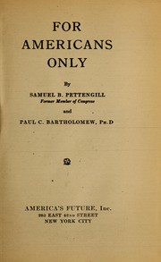 Cover of: For Americans only