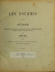 Cover of: Les fourmis de la Suisse