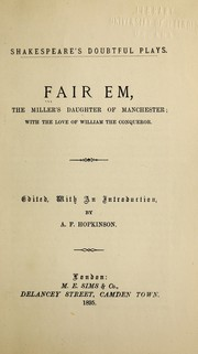 Fair Em, the millers daughter of Manchester