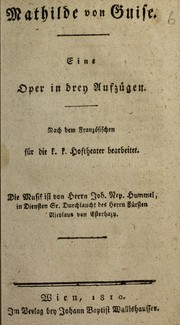 Cover of: Mathilde von Guise