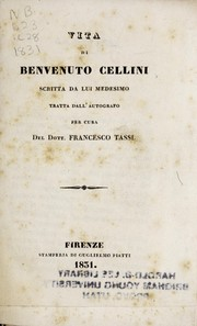 Cover of: Vita de Benvenuto Cellini