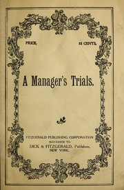 Cover of: A managers  trials