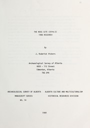 Cover of: The Ross Site (DIPd-3) 1980 research