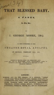 Cover of: That blessed baby | J. George Moore