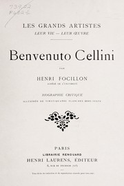 Cover of: Benvenuto Cellini