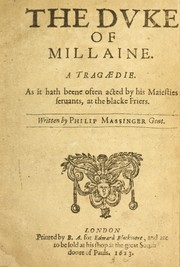 Cover of: The Duke of Millaine