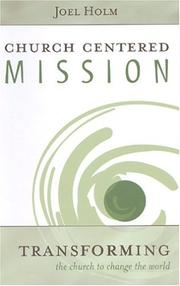 Cover of: Church Centered Mission