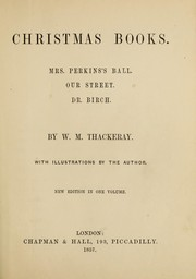 Cover of: Christmas books | William Makepeace Thackeray