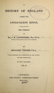 Cover of: England under Anglo-Saxon kings