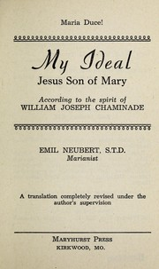 Cover of: My ideal, Jesus, son of Mary