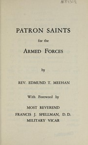 Cover of: Patron saints for the armed forces | Edmund T. Meehan