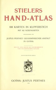 Cover of: Stielers hand-atlas