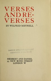 Cover of: Verses and reverses