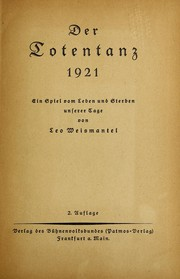 Cover of: Der Totentanz, 1921