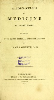 Cover of: Of medicine in eight books