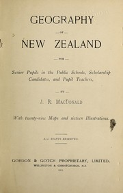 Cover of: Geography of New Zealand