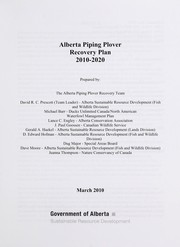 Alberta piping plover recovery plan 2010-2020