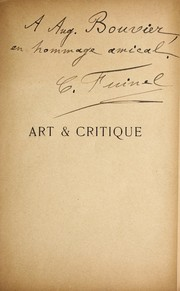Cover of: Art & critique