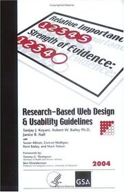 Cover of: Research-based web design & usability guidelines