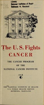 Cover of: The U.S. fights cancer