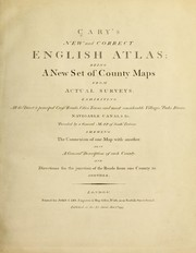 Cover of: Cary's New and correct English atlas