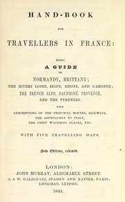 Cover of: Hand-book for travellers in France