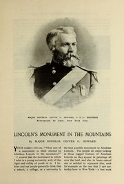 Cover of: Lincoln's monument in the mountains