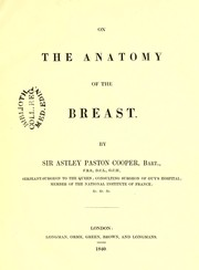 Cover of: On the anatomy of the breast