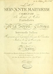 Cover of: La servante maitresse