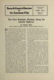 Cover of: The first roadside planting along the Lincoln Highway