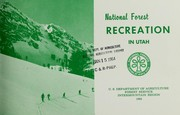 Cover of: National forest recreation in Utah | United States. Forest Service. Intermountain Region