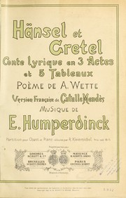 Cover of: Ha˜nsel et Gretel