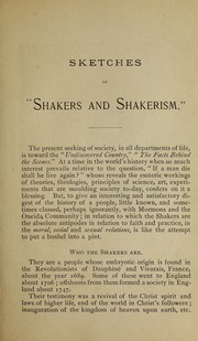 Cover of: The Shakers, who they are and what they believe