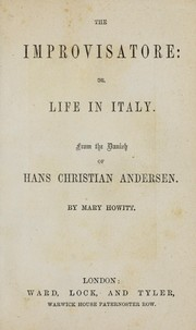 Cover of: The improvisatore, or, Life in Italy