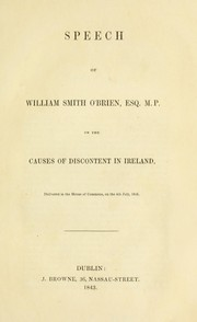 Cover of: Speech of William Smith O'Brien ..