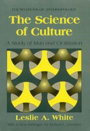 Cover of: The science of culture: a study of man and civilization.