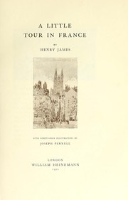 Cover of: A little tour in France | Henry James Jr.