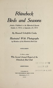 Cover of: Rhinebeck birds and seasons | Maunsell Schieffelin Crosby