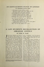 Cover of: A law student