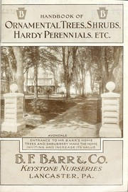 Handbook of ornamental trees, shrubs, hardy perennials, etc