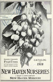 Cover of: Bagby grown fruit trees on the market over forty-five years | New Haven Nurseries (New Haven, Mo.)