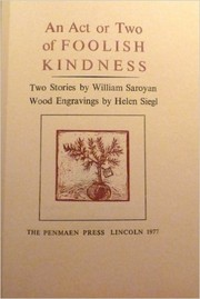 Cover of: An act or two of foolish kindness: two stories