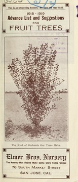 1918-1919 advance list and suggestions for fruit trees