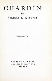 Cover of: Chardin | Furst, Herbert