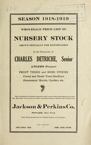 Cover of: Wholesale price list of nursery stock