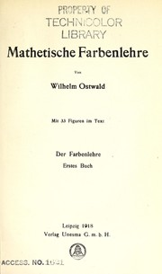 Cover of: Mathetische Farbenlehre
