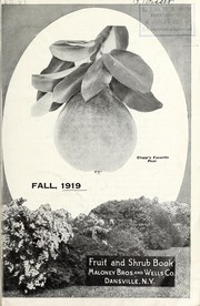 Cover of: Fruit and shrub book | Maloney Bros. & Wells
