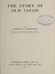 Cover of: The story of old Japan