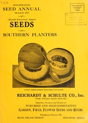 Cover of: Illustrated seed annual | Reichardt & Schulte Co