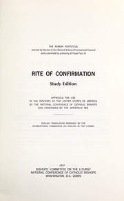 Cover of: Rite of confirmation